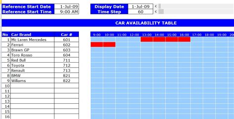 Car Rental Booking Template Excel Templates Excel Spreadsheets Excel Templates Excel Reservation Calendar Template