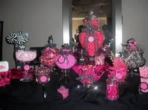 pink and black buffet buffets