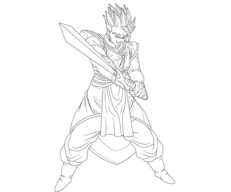 free gohan super saiyan 4 coloring pages