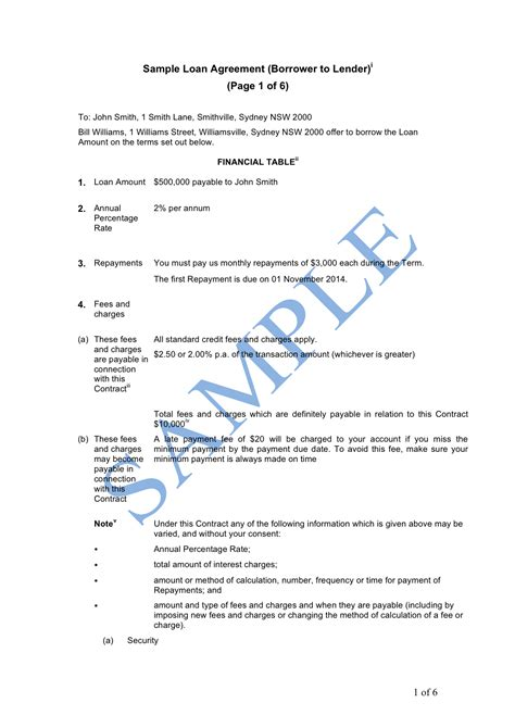 business loan agreement form doc business loan agreement