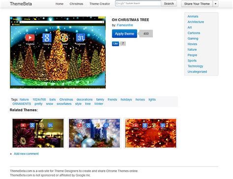 chrome theme exle christmas chrome themes download freeware de