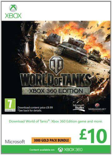 World Of Tanks Gift Card - microsoft gift card gbp10 world of tanks branded xbox