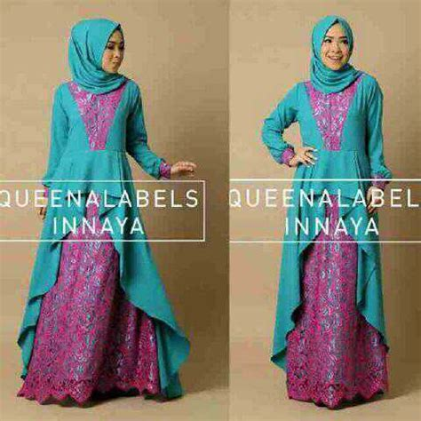 Baju Gamis Wanita Busana Muslim Terbaru Gareu Gkl8905 model baju gamis brukat muslim wanita terbaru modern