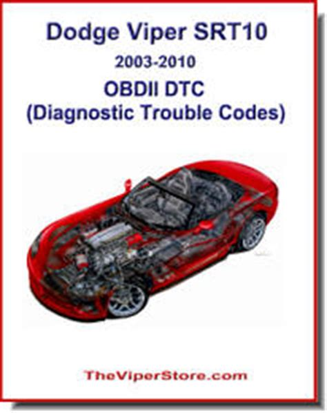 on board diagnostic system 2003 dodge viper user handbook dodge viper 2003 2010 factory manuals