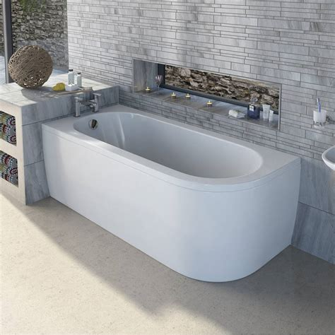 d walls in bathroom mode cayman d shaped left handed single ended bath with