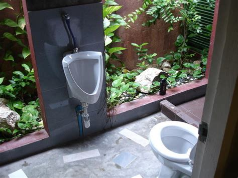 how to a for toilet outside outdoor bathroom photo