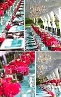 Turquoise Chandeliers Turquoise And Pink Wedding Reception Turquoise And Pink