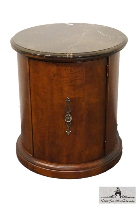 American Drew Bar Stools by Stanley Furniture Marble Top Round Storage End Table 192