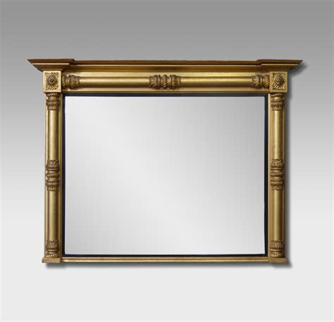 antique overmantel mirror gilt mirror large old gold