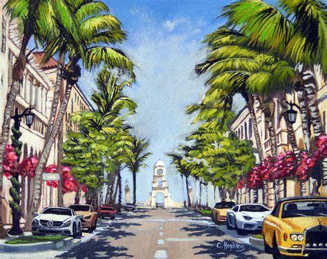 worth avenue worth avenue palm florida painting by christine