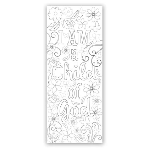 printable lds bookmarks flower coloring bookmark printable in latter day