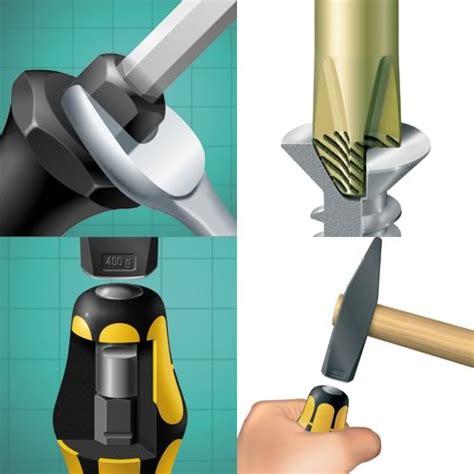 Screwdriver 5 5x100mm wera 018264 932 kraftform hammer thru chiseldriver slotted