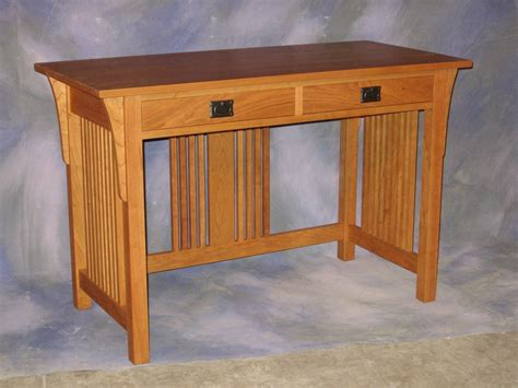 handmade mission writing desk by schanz furniture and