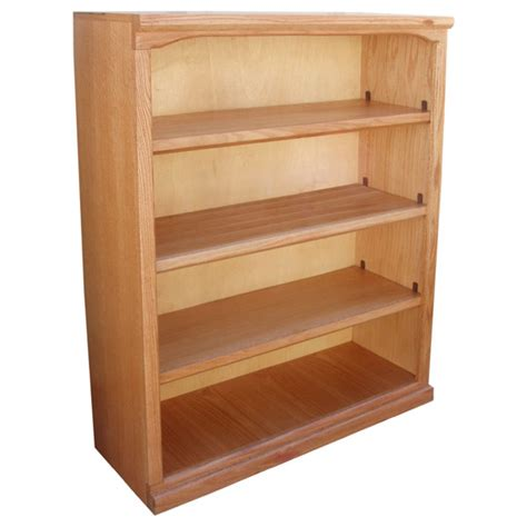 48 x 36 bookcase traditional 36 x 48 oak bookcase bct364812l