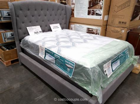 costco queen bed hillsdale upholstered wing back queen bed