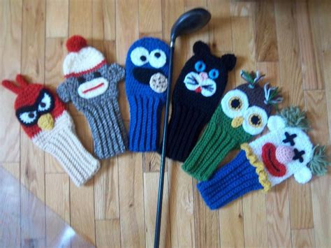 crochet pattern golf club covers golf club covers combo pack by suzi44 craftsy