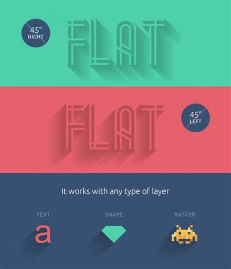 Flat Design Font Generator | long text shadow generator psd psd file free download