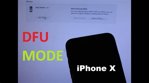 iphone x xs 8 plus 8 how to enter dfu mode