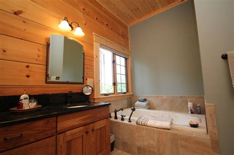 log cabin bathroom ideas bathrooms offices a two montpelier log cabin rustic bathroom richmond by
