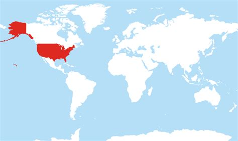 us and world map where is united states located on the world map
