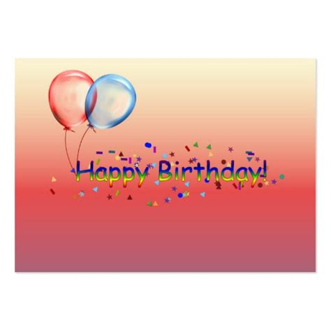 happy birthday card template happy birthday gift card large business cards pack of 100