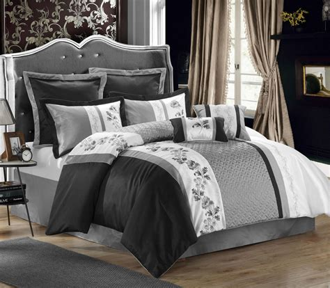 Black white queen comforter sets pictures to pin on pinterest