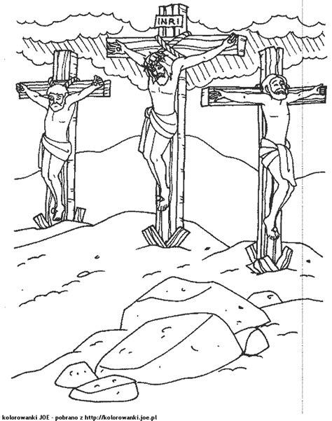 coloring pages jesus crucified kolorowanka dla dzieci ukrzyżowanie jezusa do wydruku