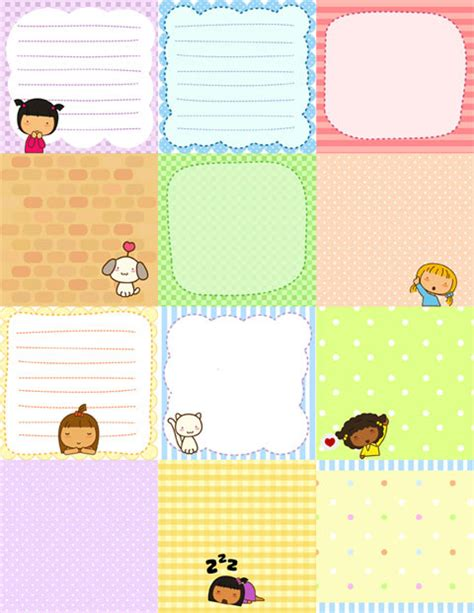 printable stationery tumblr free printable cute pigtails notes free download cute