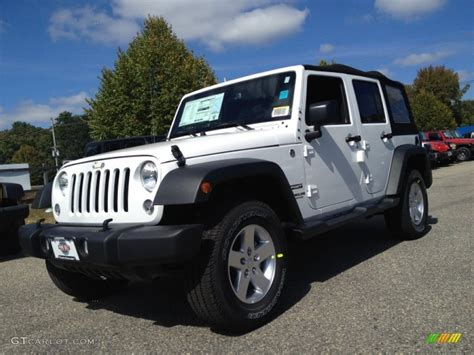 white jeep interior 2015 bright white jeep wrangler unlimited sport 4x4