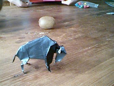 Origami Bison - origami bison
