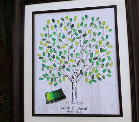 birch wedding fingerprint tree guest book by new 17 best images about baby shower for ms mc on trees fingerprints and thumb prints