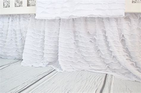 White Crib Dust Ruffle by White Crib Skirt Dust Ruffle For Nursery Bedding Ruffled