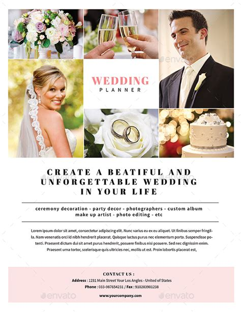 Wedding Planner Flyer simple wedding planner flyer by guuver graphicriver