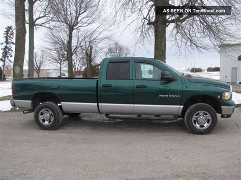 truck bed cab 2004 ram 2500 slt quad cab 8 bed 4x4 cummins no rust