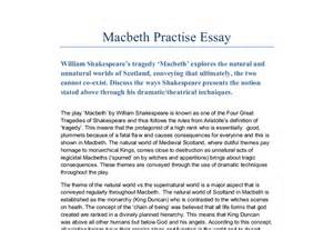 Introduction To Macbeth Essay by Macbeth Essay The Theme Of The World Vs The Supernatural World Is A Major Aspect That