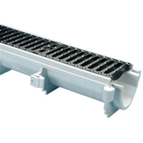 6 wide channel brute drain system with integral cast iron rail zurn z886 80 quot x 6 quot wide pre sloped trench drain