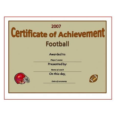 Football certificates templates uk pics for gt football 5 best images of free printable football award templates yelopaper Choice Image