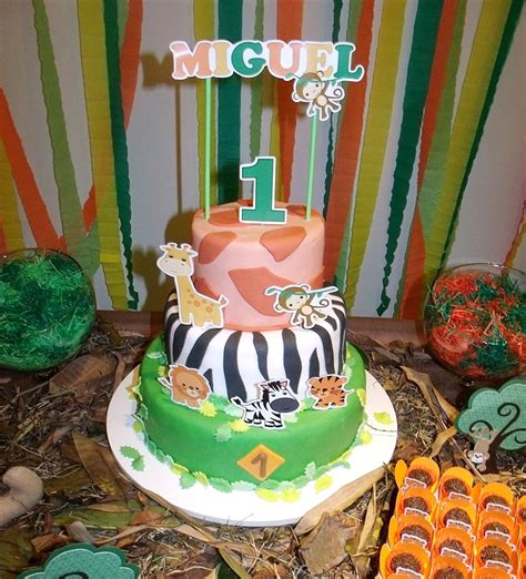 1st birthday jungle theme decorations a jungle themed 1st birthday from brazil