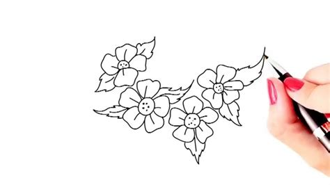 easy drawings simple flowers drawings how to draw beautiful flowers easy and simple drawing
