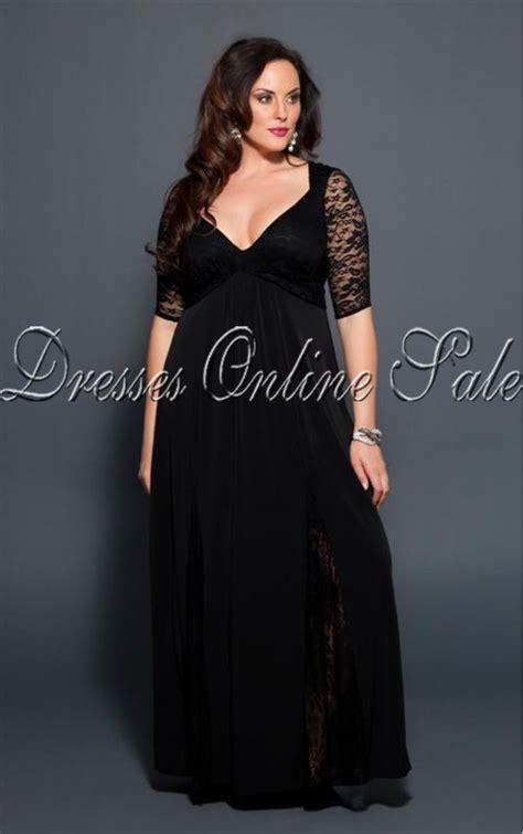 Blog fashionable woman long black dress in plus size