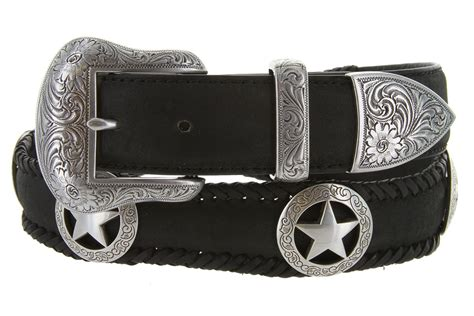 san antonio western leather belt 1 1 2 quot wide black