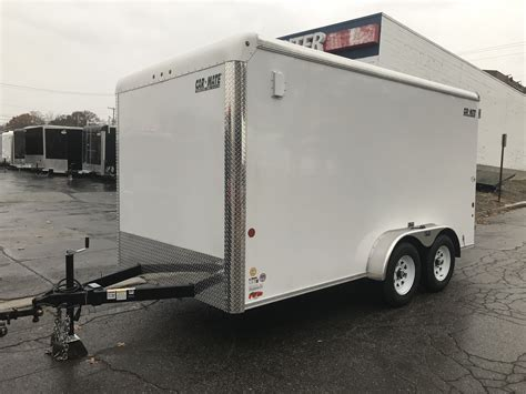 cargo mate trailer lights enclosed cargo trailer 7 x14 white barn car mate custom 6