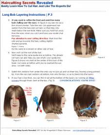 how to cut a layered bob haircut diagram haircutting secrets revealed gallery sle ebook pages