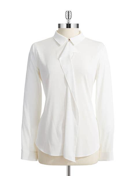 Ivanka Blouse ivanka sleeved blouse in white ivory lyst