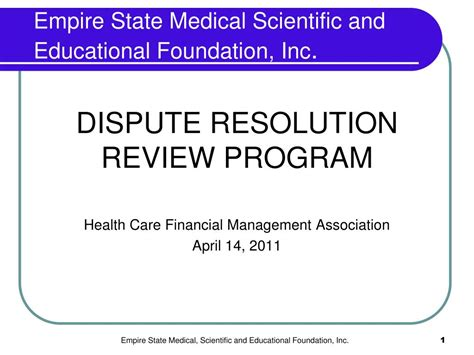 Empire State College Mba In Healthcare Leadership by Ppt Empire State Scientific And Educational