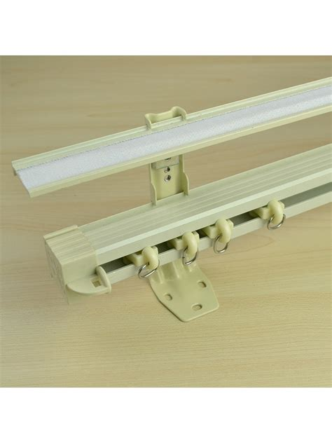 curtain wall mount chr6825 gibbo custom double curtain track set with valance