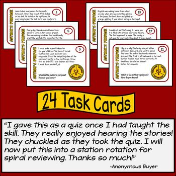 Lynette Task Card Template by Author S Purpose Task Cards With Digital Option By