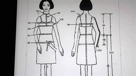 youtube membuat pola pakaian mengukur badan untuk membuat pola dasar pakaian wanita