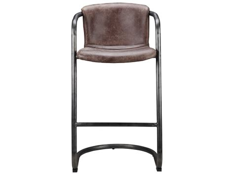 Light Brown Leather Bar Stools by Moe S Home Collection Freeman Light Brown Leather Bar