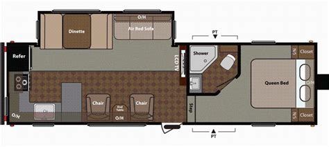 fifth wheel trailer floor plans 2014 springdale 280fwikssr floor plan 5th wheel keystone rv
